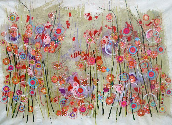 Patricia Blin  Technique mixte sur toile   Paris 2012Collection particulière