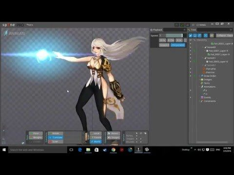 animation spine demo - YouTube