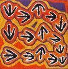 emu track aboriginal art  - create something like this but using egg shells.