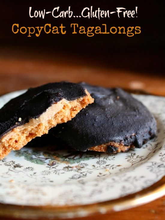 Copycat tagalongs are low carb and gluten free but they have all the flavor of the originals. Buttery, crumbly cookie, creamy peanut butter, and rich chocolate - lowcarb-ology.com