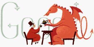 Día de San David Patrón de Gales 2014Doodleando, Los Logos de Google