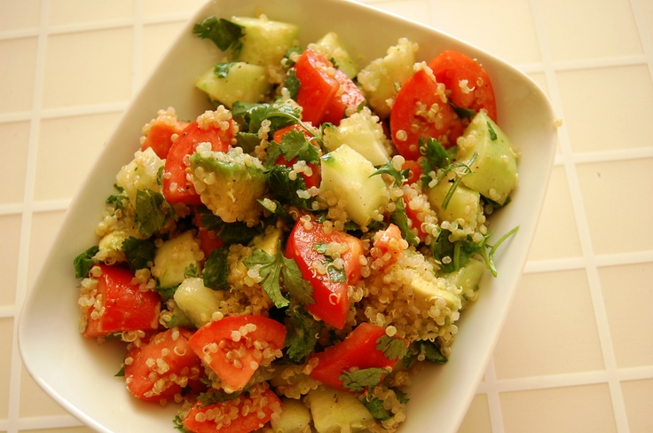 Quinoa salad is chocked full of protein!