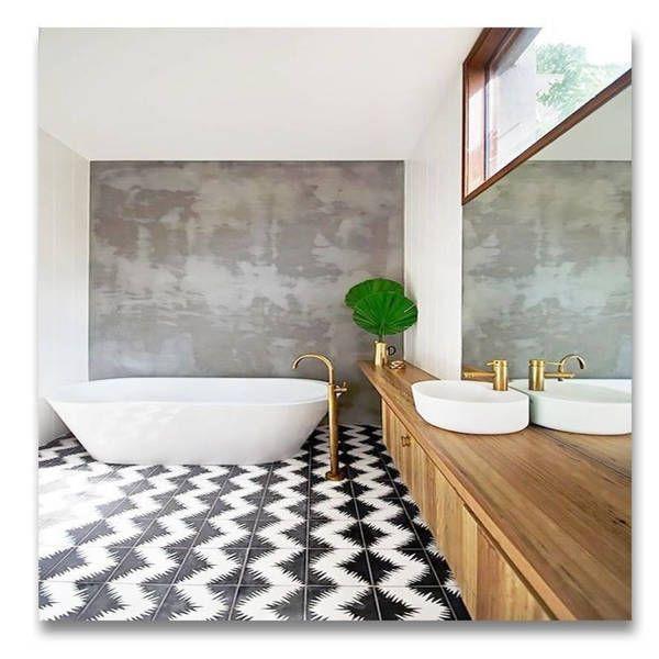 Handmade Bettana Black And White Tile Pack Of 12 Morocco Bathroom Trends Minimalist Bathroom Bathroom Interior