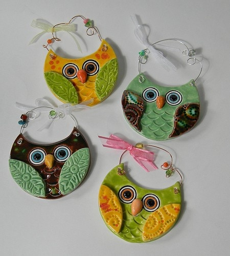 Easy Clay slab Owls. Cut out and add texture to hang on the wall.May 16, 2013 4:30-5:30pm  Ages 6-12 call 405-359-4630 to register.