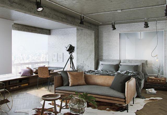 #olhomágicocj #studioroca Neste projeto de apenas 40 m², em São Paulo, decidimos integrar todos os ambientes. Fechamos também a varanda para aumentar a área do apartamento. Uma das paredes foi revestida com tijolinhos brancos. A coluna recebeu textura de cimento. Para contrastar e deixar o ambiente aconchegante, optamos por um piso de madeira. Foto MCA Estudio/Divulgação @carloscarvalhoarq @rodrigo_beze_ @studioroca #loft #apartamentopequeno #decoraçãodeapartamentopequeno #sala…