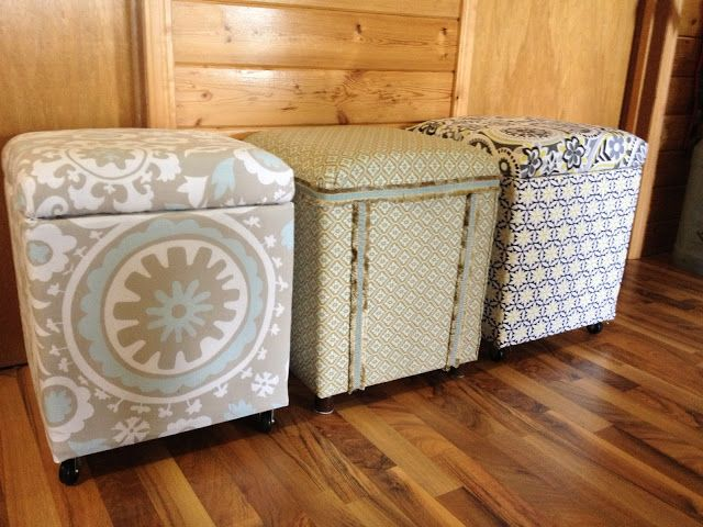 MacGIRLver: More Styrofoam Coolers Made Into Ottomans