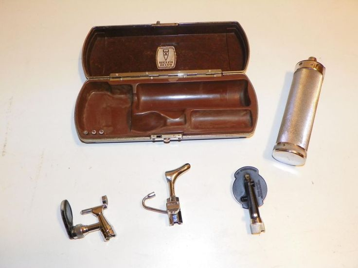 WORKING VTG WELCH-ALLYN OTOSCOPE/OPHTHALMOSCOPE w/ BAKELITE CASE-DOCTOR MEDICAL