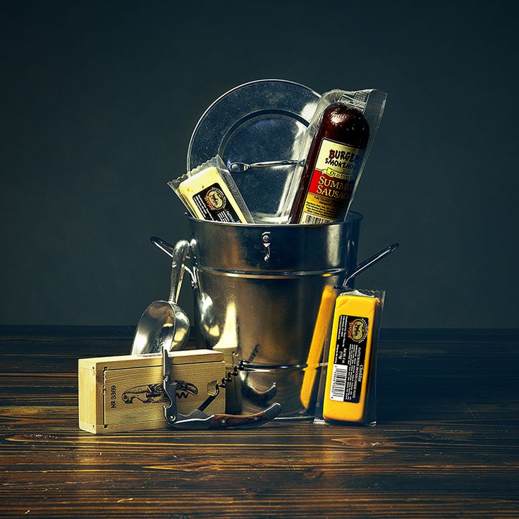 ICE BUCKET | CANNIVERSARY $47.99  Troyer Cheddar Cheese Troyer Hot Pepper Cheese Burgers' Smokehouse Summer Sausage 1# Chub Pocket Corkskrew with Box