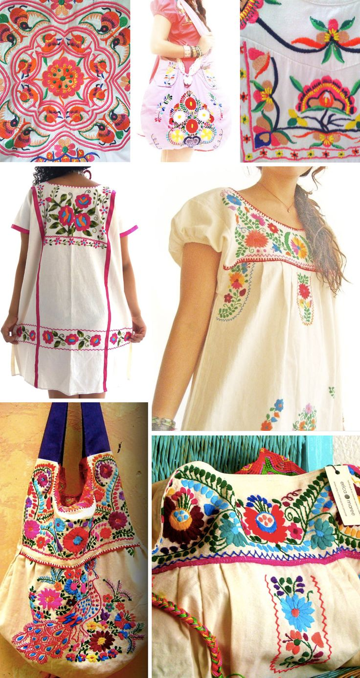 Street Patterns: Mexican Embroidery I need to get some dresses like this