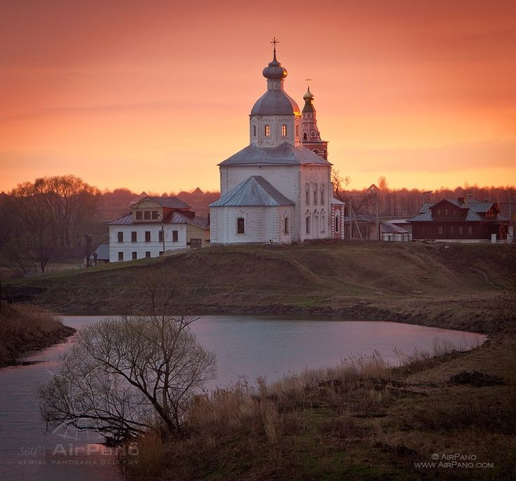 The Museum of Wooden Masterpieces in Suzdal, Russia. Pinned due to its a picture in the list of the cities of Russia...this is history. airpano.com