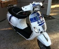 Star Wars R2-D2 Vespa Scooter Motorcycle