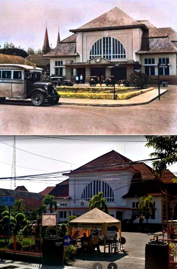 Kantor Pos Indonesia Pusat Jl Kebon Rojo Surabaya 1935 Arsitektur Indonesia Gambar Arsitektur