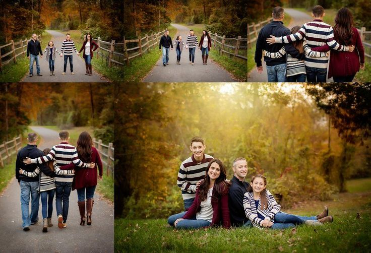 Click to See More! Northern Virginia Family Photography. Winchester VA Family Photographer. Family of Four with Teens Poses. Outdoor fall family portraits. www.kensiem.com | Northern Virginia Photographer