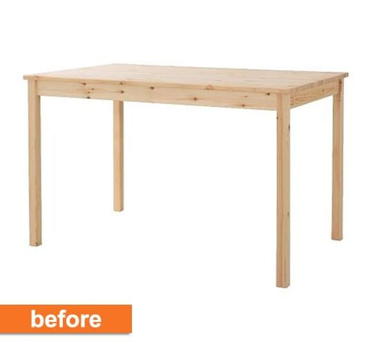 Before   After  From IKEA Dining Table to Chic Desk. Best 25  Ikea dining table ideas on Pinterest   Ikea dining room