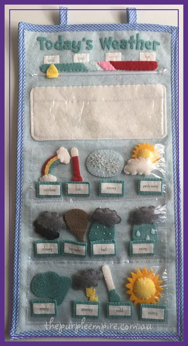 Hanging on your wall, this handmade felt weather station will engage your child's natural interest in the weather. Featuring twelve hand...