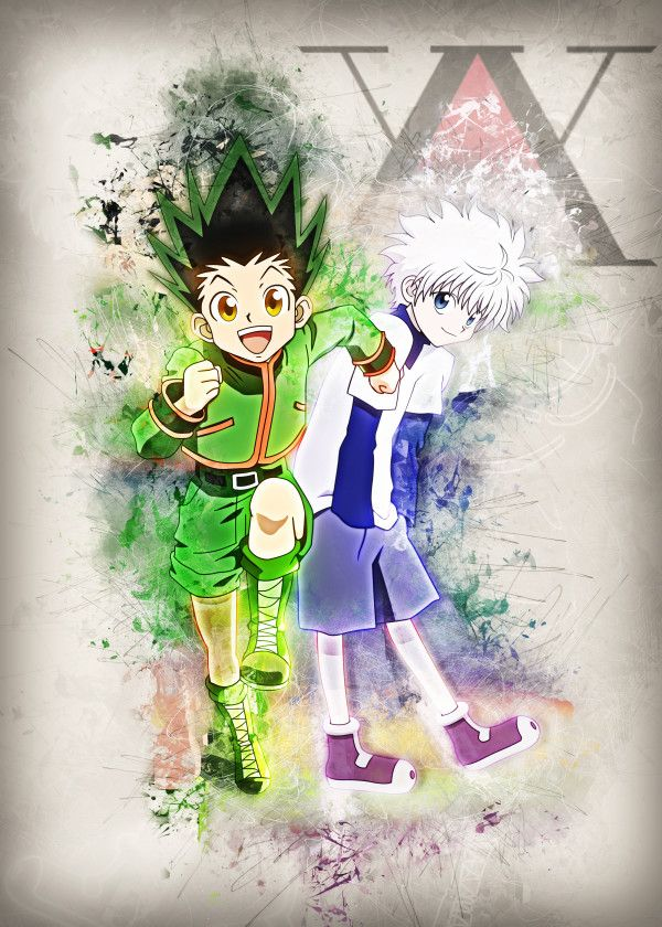 Displate Poster Gon and Killua Hunter x Hunter hunter x