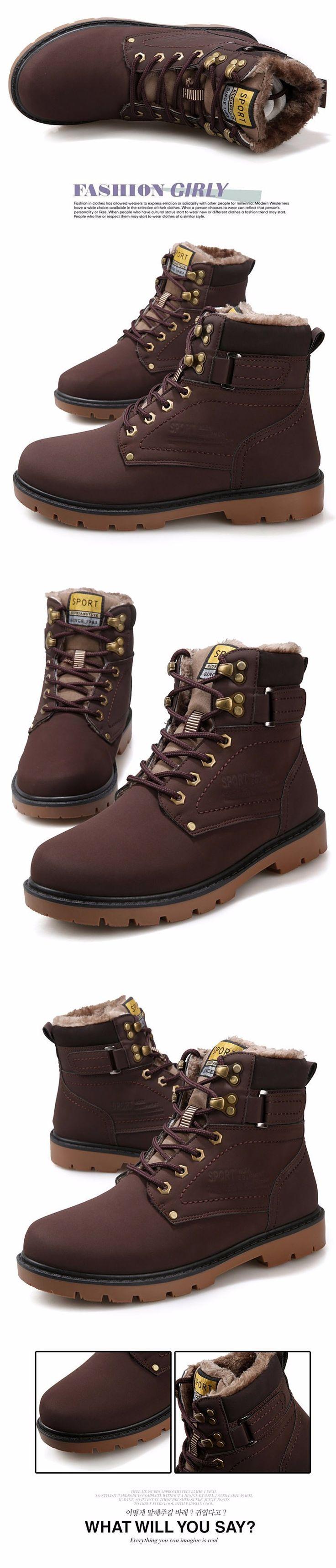 2016 Invierno de Los Hombres Calientes de La Pu de Cuero Del Tobillo Botas de Moto Hombres Otoño Zapatos Impermeables botas de Nieve Botas de Martin Del Ocio Botas Otoño Mens en   de   en AliExpress.com | Alibaba Group