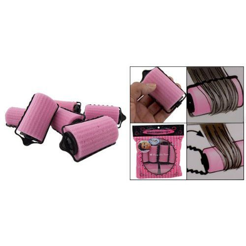 6Pcs Special Girl/Ladies Magic Hair Care Roller Style Pink Sponge Curlers Ps