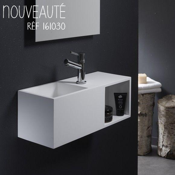 """Lave-mains """"Arezzo"""" en solidsurface, haute qualité #planetebain #salledebain #lavemains"""
