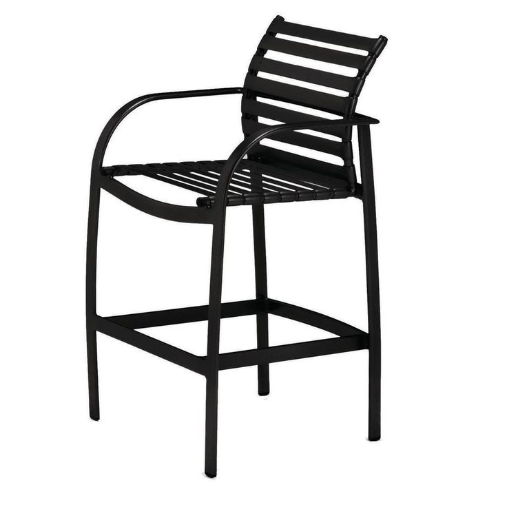 tradewinds scandia black commercial strap patio bar stool