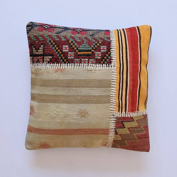 Patchwork 22x22 Moroccan Pillow Coussin Marocain Floor Pillow