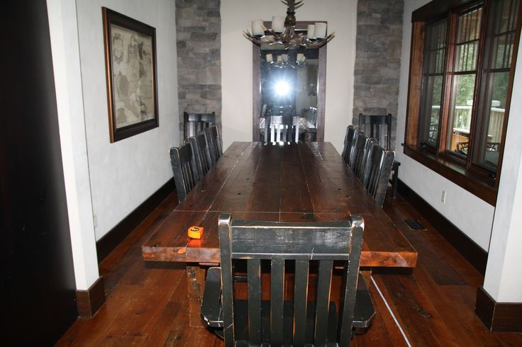 Unrefinished All the original photos (ie pre refinishing) were taken with a flash, at approximately noon with the sun out, blinds/curtains open and no clouds, ie lots of light) vs photos from today (post refinishing) were taken in the same conditions except today was overcast.  Dining room floor  depth of colour typical of all floors pre refinishing