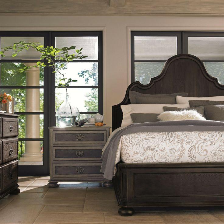 Best Bernhardt Belgian Oak Curved Crown Panel Bedroom Set In Charcoal With Images Bernhardt 400 x 300