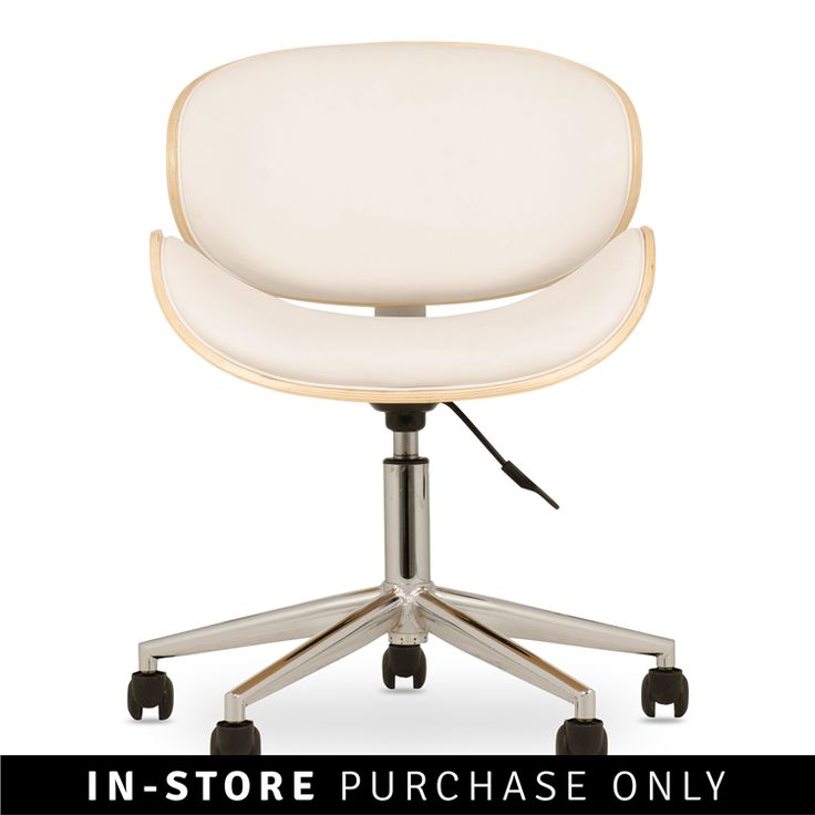 radius office chair white @Home