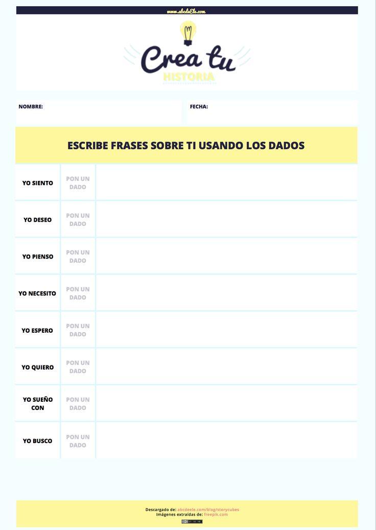 10 fichas descargables para usar los story cubes en clases de español de forma diferente                                                                                                                                                                                 Más
