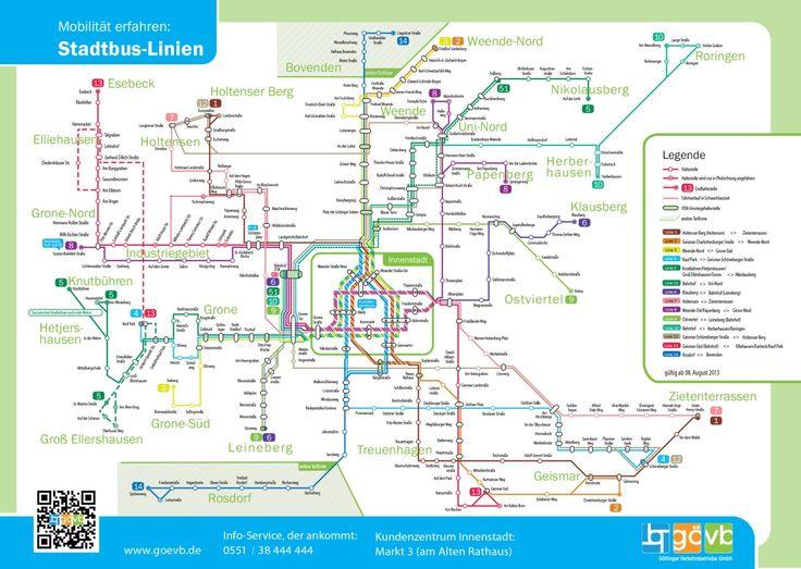 Official Map: Bus Network ofGöttingen, Germany, 2014