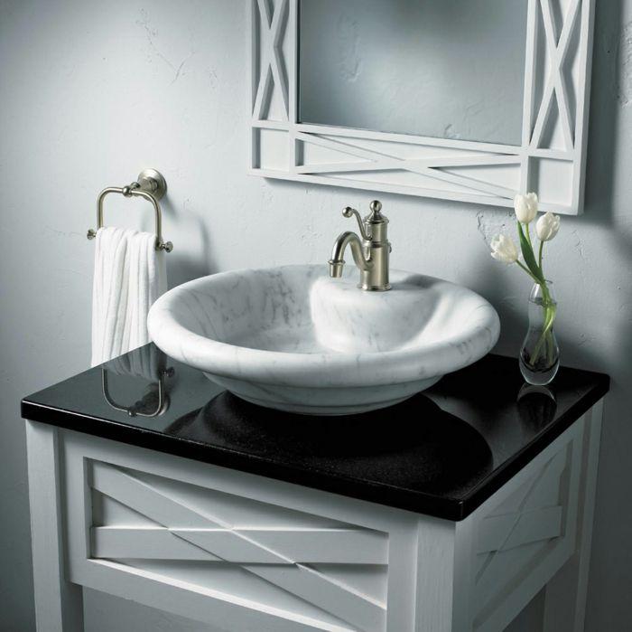 bad renovieren marmor waschbecken