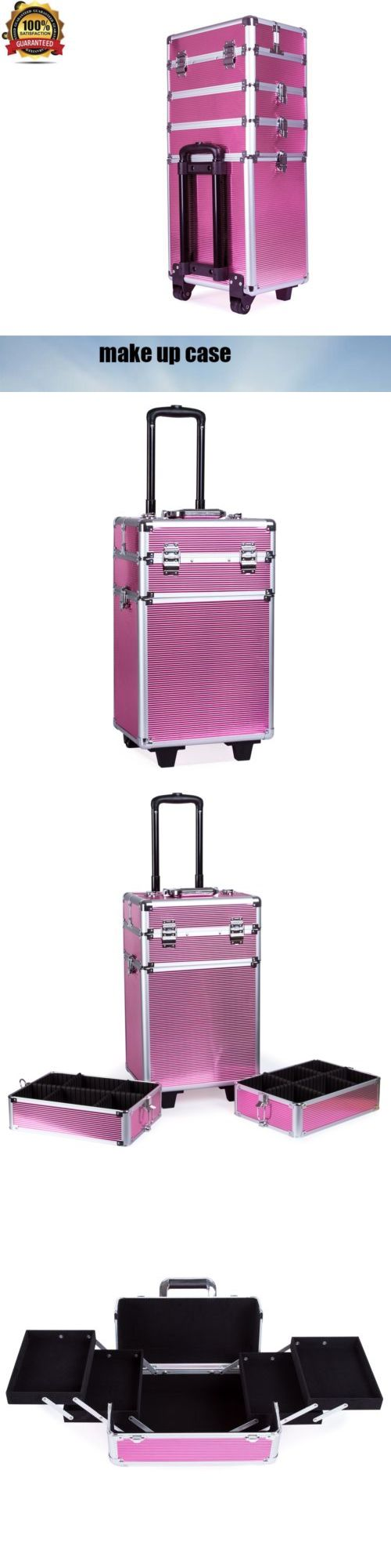 Makeup Bags and Cases: Professional Makeup Rolling Hair Stylist Case 4 In 1 Organizer Trolley Aluminum -> BUY IT NOW ONLY: $69.63 on eBay!
