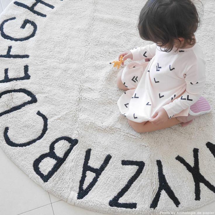 Washable Rugs Round ABC Collection  #washablerugs #lorenacanals #abc #machinewashablerugs #kidsdecoration #rugsforkids