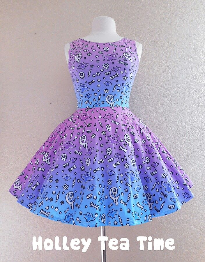 pastel goth, fairy kei dress- holleyteatime on store envy.