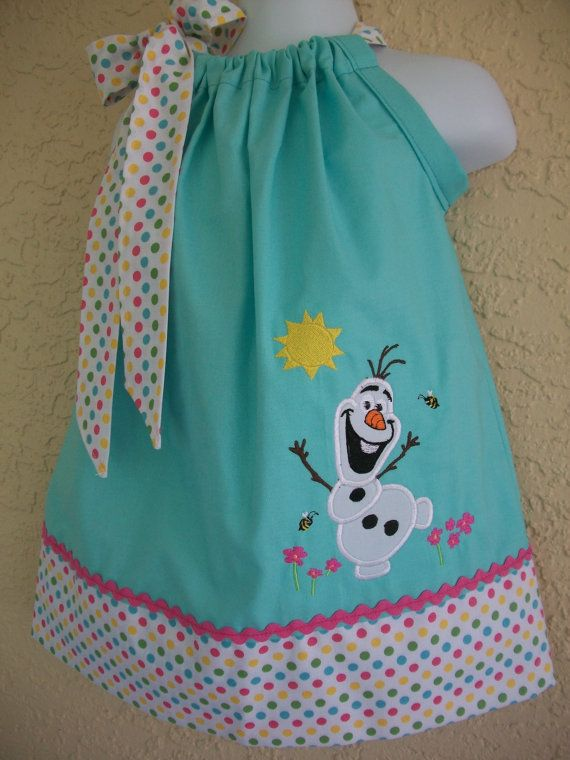 Olaf Pillowcase dressbirthdayprincess by amaritascloset on Etsy, $32.00