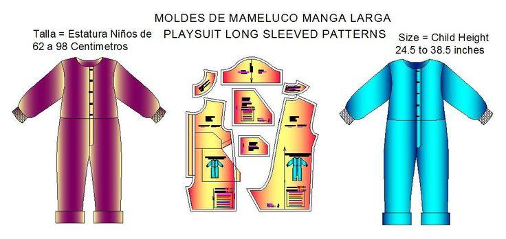 Tallaje de Mameluco con manga larga