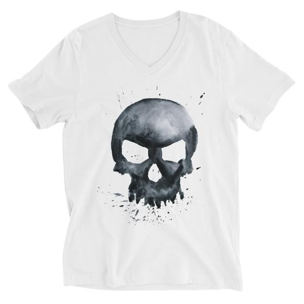 Skull Unisex Short Sleeve V-Neck T-Shirt