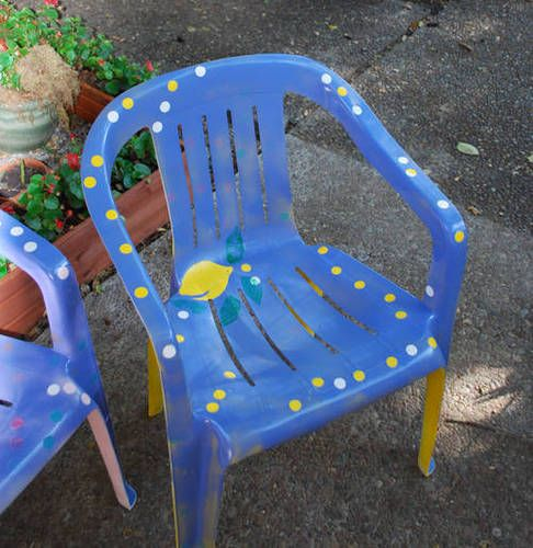 Painting plastic chairs cute ideas funny writer craft ideas pinterest painting plastic Painting plastic garden furniture