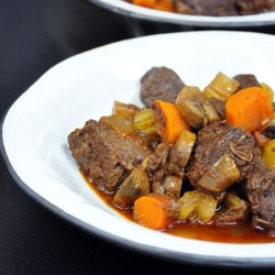 A rich stew, slowly cooked, this venison bourguignon is a great dish to impress your guests.