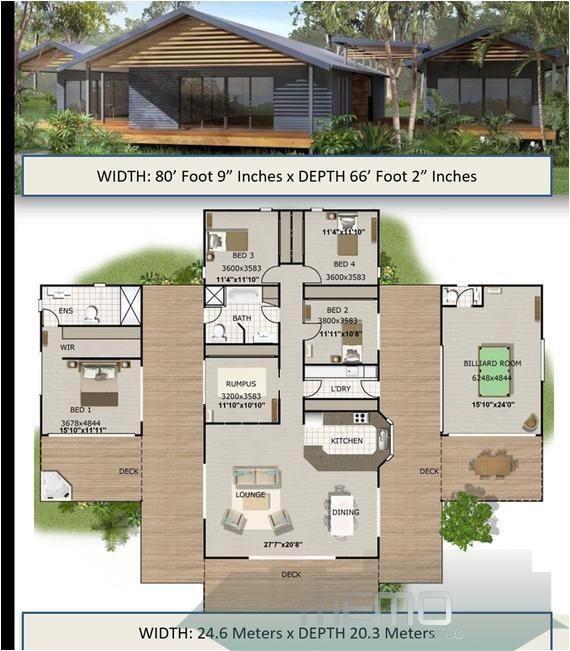 Jun 10 2020 House Plan 353 Kr 5 Bedrooms Floor Plan Pole Home 4 Bedrooms Home Plan 4 Bed 4 Bedroom Plus R Modern House Plans House Plans House Design