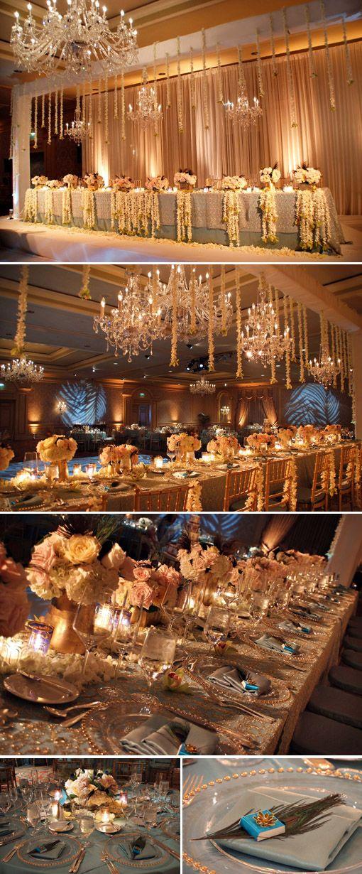 A glowing reception hall! i like!