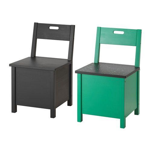 IKEA - SÄLLSKAP, Stol med förvaring, Praktisk förvaring av exempelvis plastpåsar, toalett/hushållsrullar, vantar och strumpor.Den massiva furuns ådring och skönhetsfläckar i form av kvistar ger varje möbel en egen naturlig personlighet.