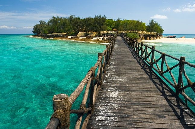Follow the path, leave your troubles behind, and let the water wash your worries away. Zanzibar, Africa