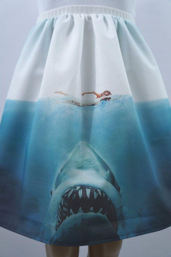 Beware of Sharks full skirt made to order by NerdAlertCreations