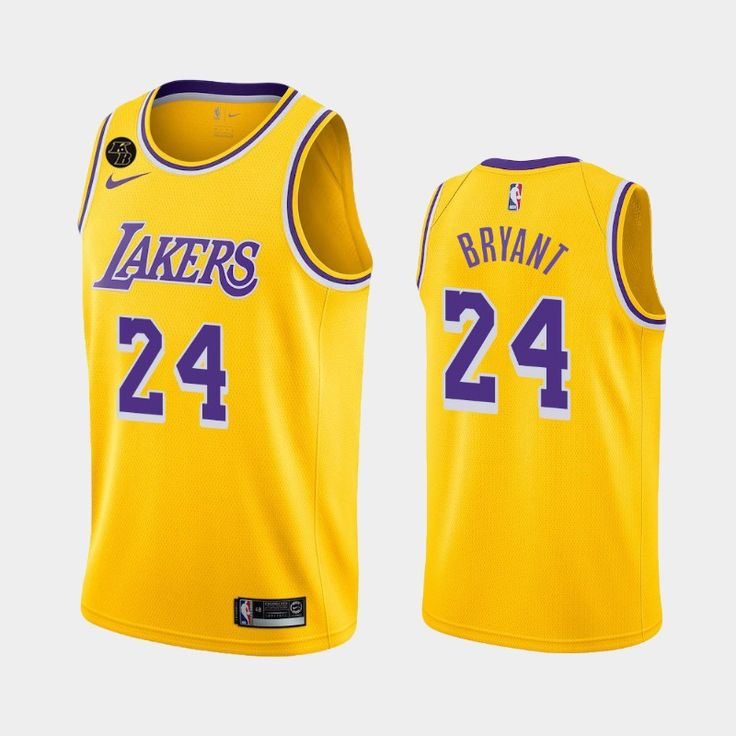 Men's Los Angeles Lakers #24 Kobe Bryant 2020 Icon Limited Yellow ...