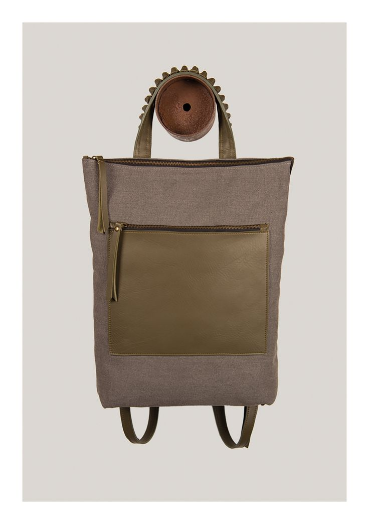 Mod.08 fw 15 16  backpack  canvas  leather  grey   dd966ed944208
