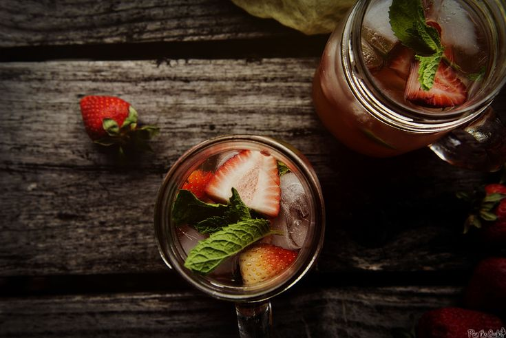 Mint Strawberry Crush Cocktail Recipe
