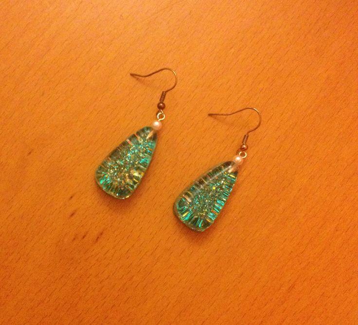 Earrings from glass ! ❤️