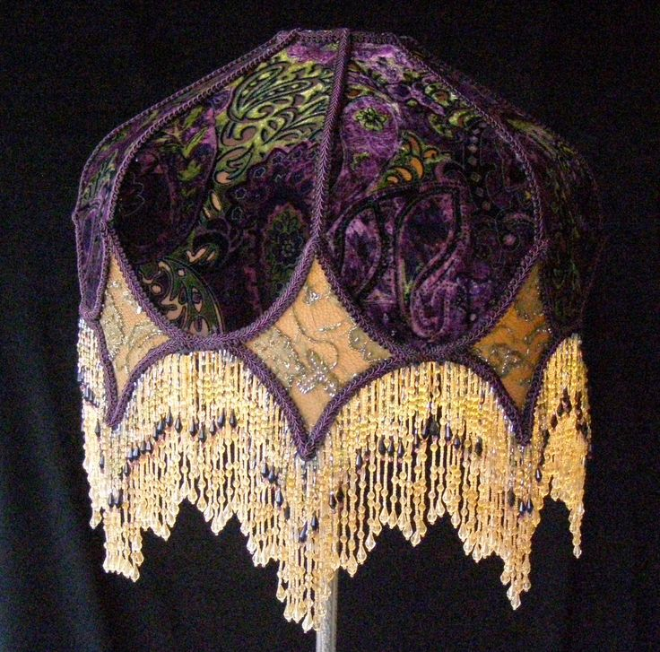 victorian lamps with fringe shades | Victorian Eclectic Lampshade with Beaded Fringe.  Lovely.