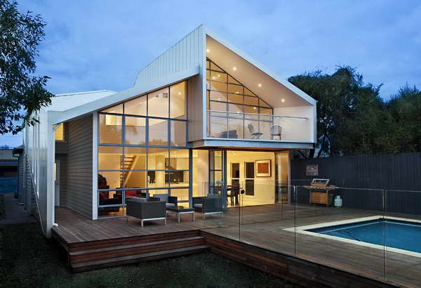 Modern Style House Extension Design : Modern Style House Extension Design With Hardwood Floors